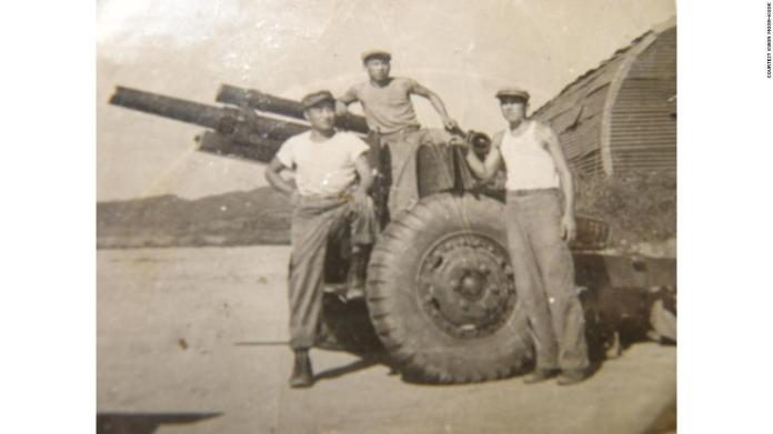 Kwon Moon-kook around the time of the Korean War. After deserting the North Korean army, he joined the US forces fighting against the North.
