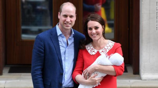 Image result for Catherine, the Duchess of Cambridge, gave birth to Louis