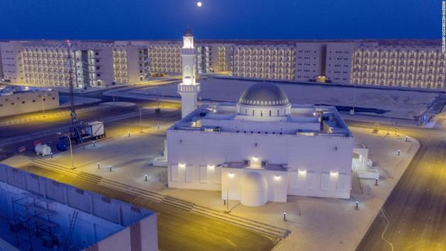 A mosque at the Renaissance Services facility in Duqm, Oman.
