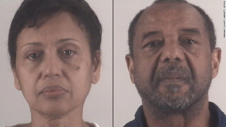 Denise Cros-Toure, left, and Mohamed Toure, right, have been sentenced to seven years each in prison.