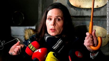 Speaking on November 23, 2017, Sara Danius tells the media that the Academy had cut ties with Arnault.