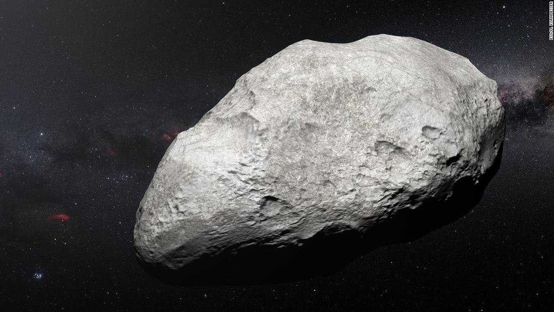 2004 EW95 is the first carbon-rich asteroid confirmed to exist in the Kuiper Belt and a relic of the primordial solar system. This curious object probably formed in the asteroid belt between Mars and Jupiter before being flung billions of miles to its current home in the Kuiper Belt.
