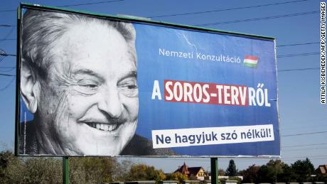 An anti-Soros billboard in Hungary in October 2017.