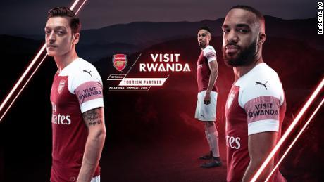 Arsenal signe un contrat de sponsoring avec le Rwanda