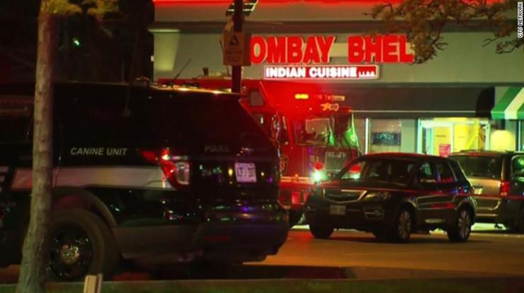 Police responded to reports of an explosion Thursday night at Bombay Bhel Indian restaurant in the Toronto suburb of Mississauga.