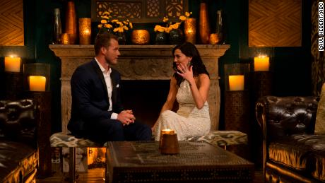 "Underwood, left, with Kufrin on ""The Bachelorette."""