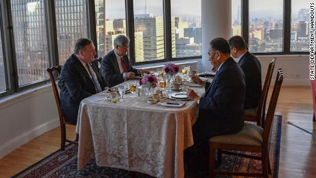 "A photo posted to Pompeo's official Twitter account showed the North Koreans dining on a meal of ""steak, corn and cheese."""