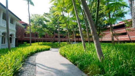 "The Capella is on the island resort of Sentosa, which is Malay for ""peace and tranquility."""