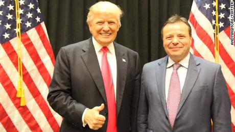 Arron Banks, co-founder of the Leave.EU campaign, pictured with President Donald Trump
