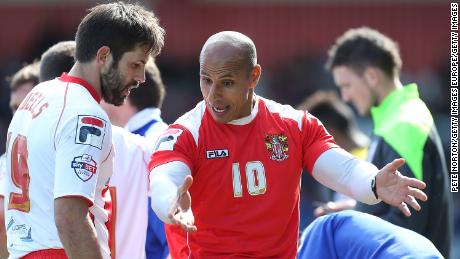 Dino Maamria coaching at Stevenage Borough in 2015.