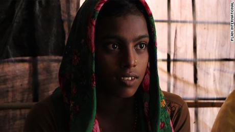 15-year-old Nur Nahar says that in Rohingyan culture, women on their periods are forbidden to go outside or interact with men. They have to sit on old mats and hide when men visit.