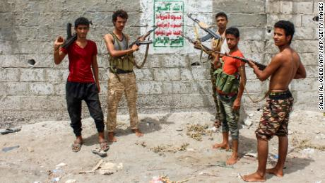 Yemeni fighters loyal to the Saudi-backed government on the outskirts of Hodeidah in June.