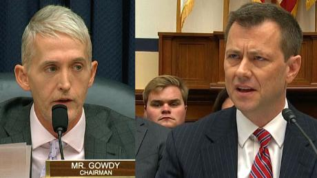 Rep. Gowdy grills Strzok over text messages