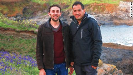 Majhor and Adel in the UK, 2018.