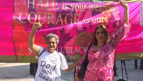 Meena Patel, 56, left, and Shakila Maan, 56, from the Southhall Black Sisters organization.