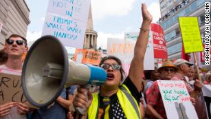 London protests send clear message to Trump: You're not welcome