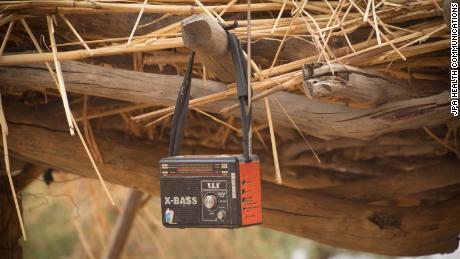 A radio in the village of Dakiri.
