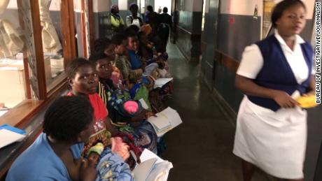 Mothers and babies at Queen Elizabeth Central Hospital in Blantyre wait for treatment.