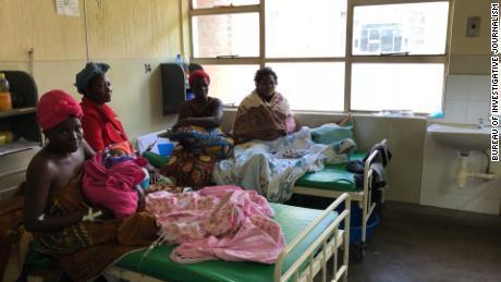 Mothers on the postnatal ward at Queen Elizabeth hospital.