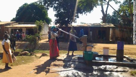 Nyambi health center does not have running water; instead, buckets of water must be carried from a nearby borehole to wash hands or clean the hospital.