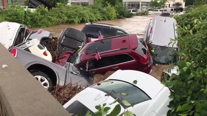 Image result for accident and flooded cars