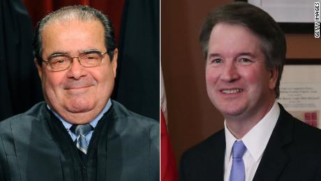 La Cour suprême de Trump choisit les appels Antonin Scalia comme modèle de rôle. et un héros judiciaire & # 39;