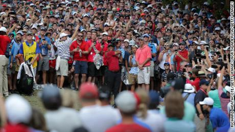 Woods was the star attraction in Missouri Sunday.