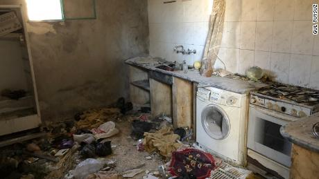 Halime Dervish was cooking in her kitchen when the airstrikes took place. Her two kids were wounded. They managed to get out of the house through a hole in a wall created by the blast.
