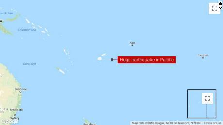 8.2-magnitude earthquake strikes in South Pacific off Fiji