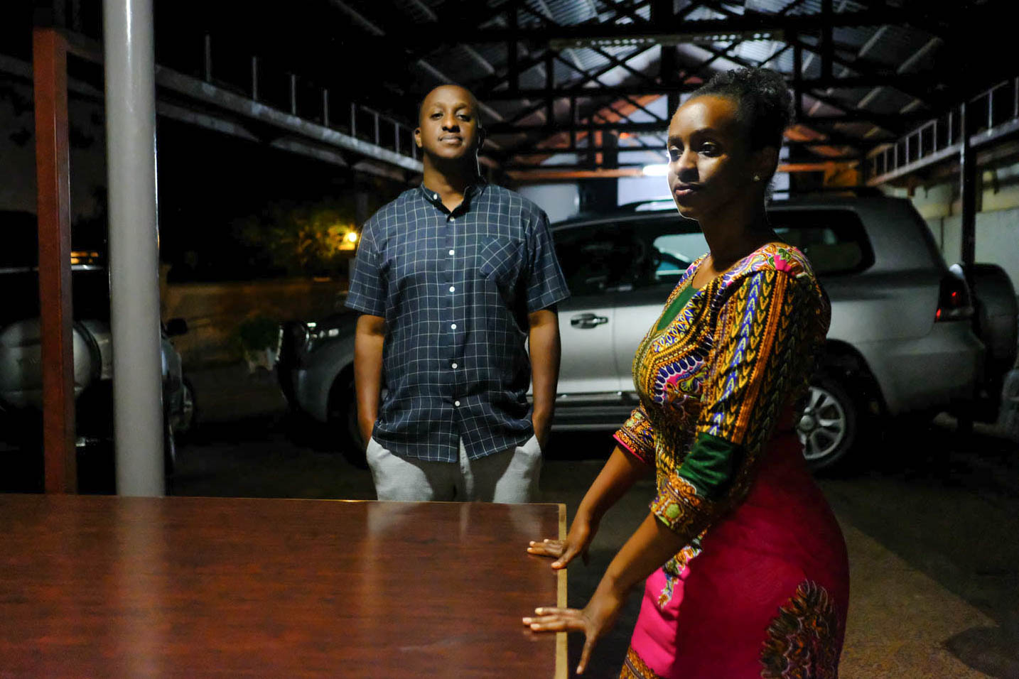 Arioste and Anne Rwigara, at home in Kigali.