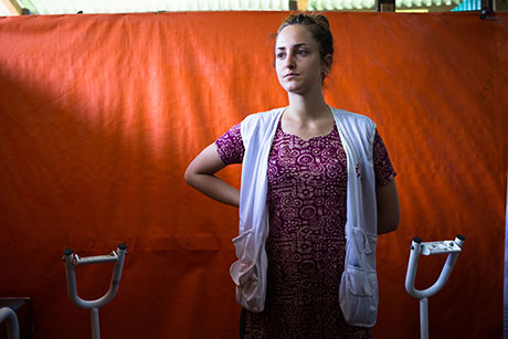 Giulia Maistrelli, an Italian midwife who works for MSF.