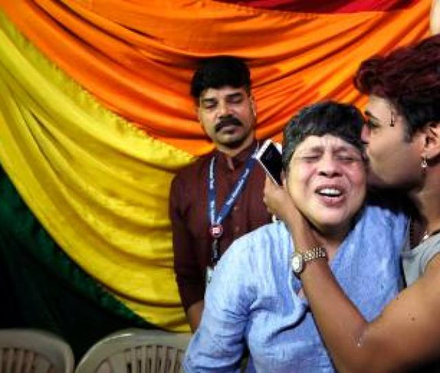 Indian Lgbt Activists In Mumbai React To The News That The Supreme Court Has Struck Down