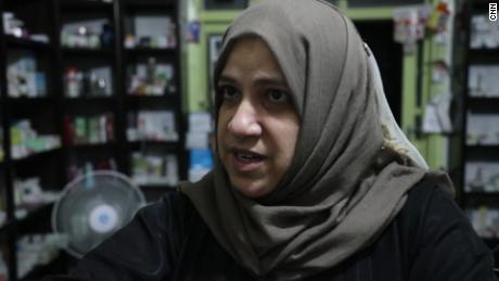 Sawsan Al-Saed says she will flee Idlib only if diplomacy fails.