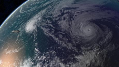Hurricane Olivia is seen Friday via radar.