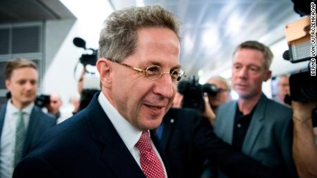 Hans-Georg Maassen, who will soon take up a new position in the Interior Ministry, arrives for a public hearing in Berlin on September 12.