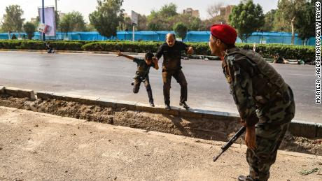 Who attacked Iran's military parade?