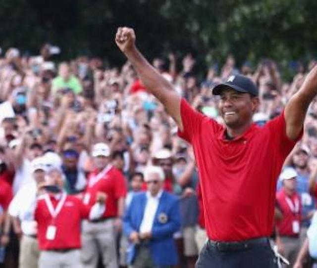 Tiger Woods Celebrates After A Hrefhttps Www