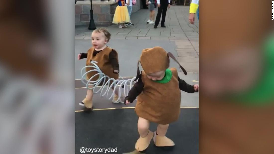 They are all precious angels. Dad Takes Toy Story Costume To The Next Level Cnn Video