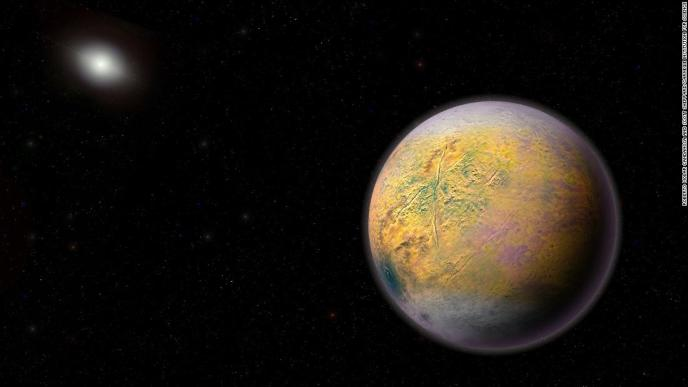 An artist's illustration of Planet X, which could be shaping the orbits of smaller extremely distant outer solar system objects like 2015 TG387.