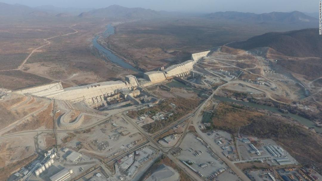 Once finished, Ethiopia's new dam will be the largest in Africa, measuring 1,800 meters (1.1 miles) in length and 155 meters (508 feet) high.