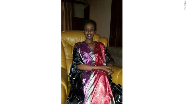 Diane Rwigara, at her home in Kigali on Tuesday.