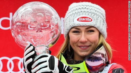 Mikaela Shiffrin won her third straight World Cup overall crown last season.