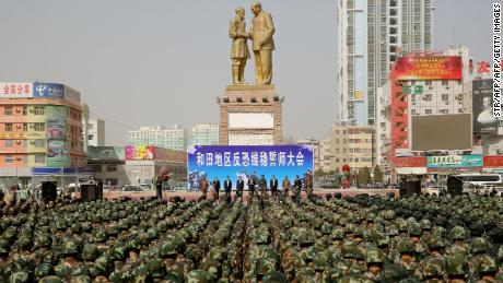 Uyghur crackdown in Xinjiang doubles security spending in one year