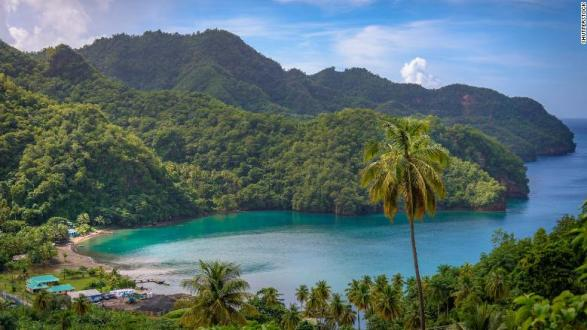 Cannabis grows in the hills above the beaches in St. Vincent and the Grenadines.