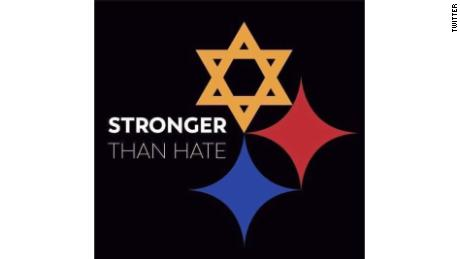 Internet version of Pittsburgh Steelers logo sends message 'Stronger than Hate'