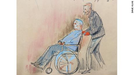 Suspect Robert Bowers, who was wounded during the shooting, appeared briefly in court Monday.