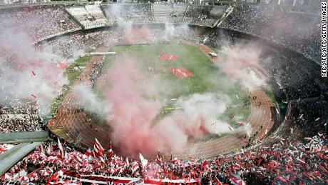 River's El Monumental stadium, the largest in the country.