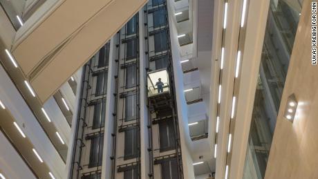 A view from inside the atrium of Der Spiegel's headquarters in Hamburg.