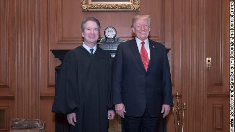 Trump gets another chance to celebrate Kavanaugh at court ceremony