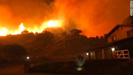 The Woolsey Fire in Southern California exploded in size overnight Thursday.